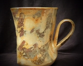 Extra Large Multiple colored Hand made wheel thrown & altered mug