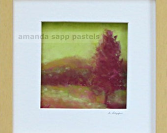 landscape painting- landscape art art-original pastel painting-framed original-contemporary art-pastel art-amanda sapp-contemporary painting
