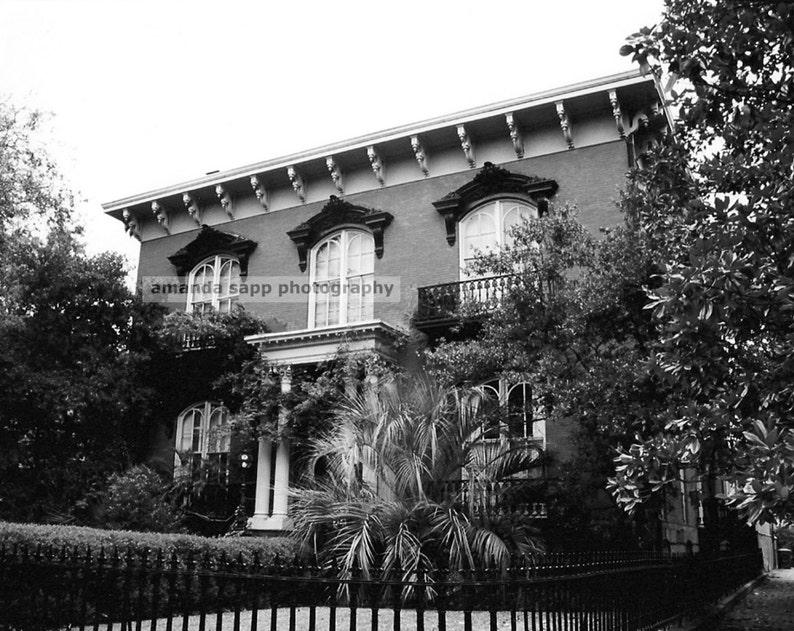 Mercer House Savannah Georgia Black And White Photograph Etsy
