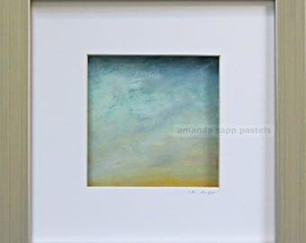 sky painting- sky art-original pastel painting-framed original-contemporary art-pastel art-amanda sapp-contemporary painting