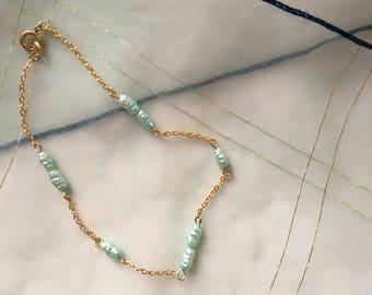 Pale Green Bracelet