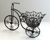 Black Wrought Iron Bicycle Tricycle Plant Stand . Vintage Indoor Outdoor Planter . Porch Patio Decor . Indoor Outdoor Planter. afloralaffair