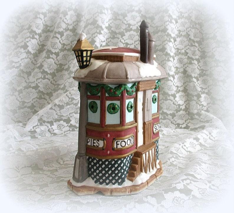Lighted Christmas Village Porcelain Building Figurine .   Etsy
