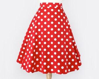 Custom Made Pinup  Plus size  Full Circle  Skirt