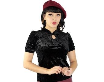 9ae0d493646077 Black Velvet Top