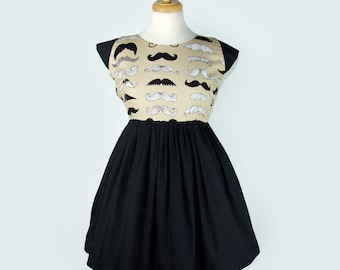SALE!!Mustache Mini Dress