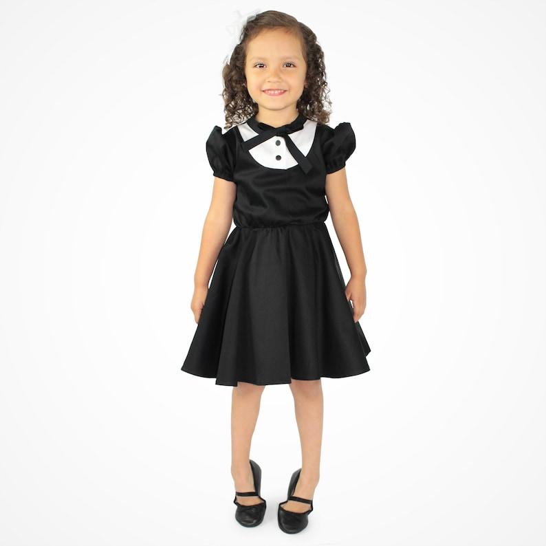 Kids 1950s Clothing & Costumes: Girls, Boys, Toddlers Girls Tuxedo Dress $39.95 AT vintagedancer.com