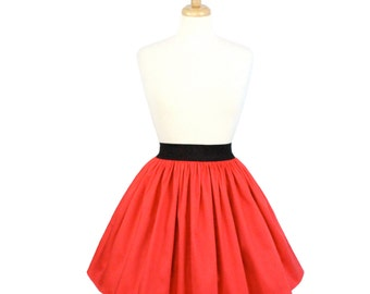 Coral A-line Pleated Skirt on sale