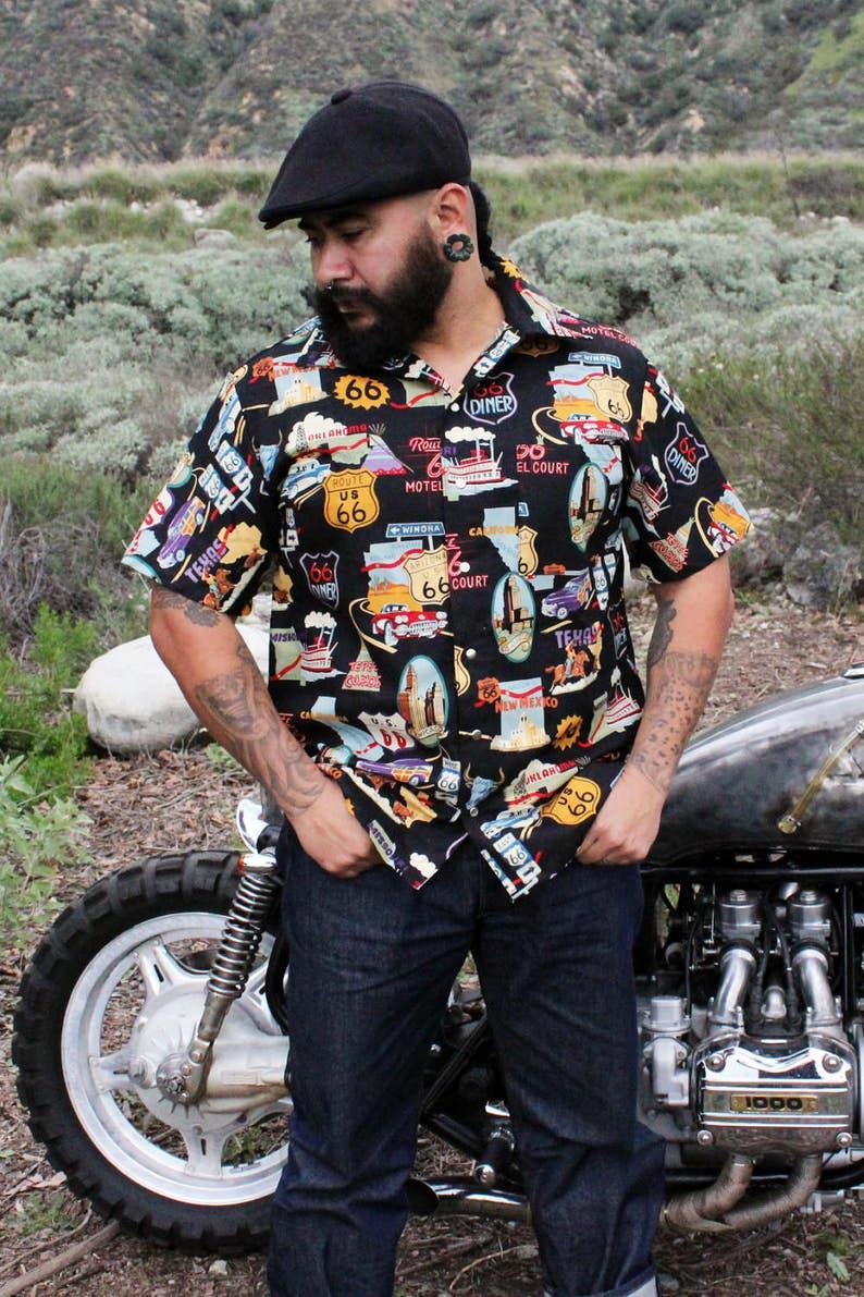 1950s Mens Shirts | Retro Bowling Shirts, Vintage Hawaiian Shirts   AT vintagedancer.com
