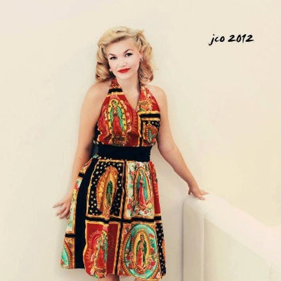 Custom Plus Size Dress Your Measurements / Tattoo Art/ Senoritas / Day of  the Dead Rockabilly / Skulls and Roses / Guadalupe Panels