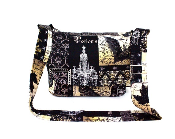 fa31aa7816bf Edgar Allen Poe Inspired Messenger Bag
