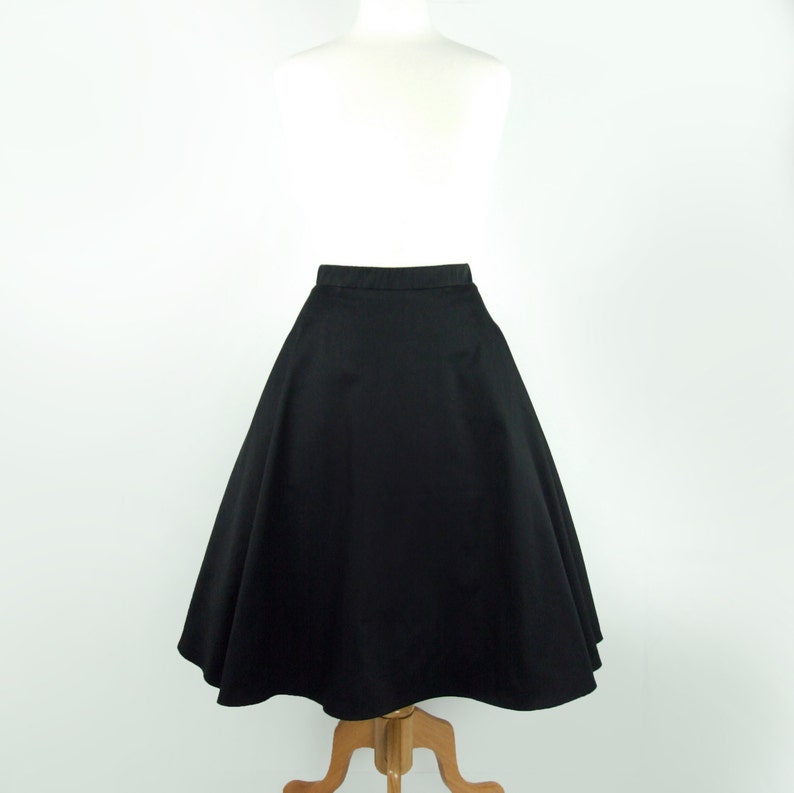 Vintage Inspired Circle Skirt Black Full Circle Skirt With image 1