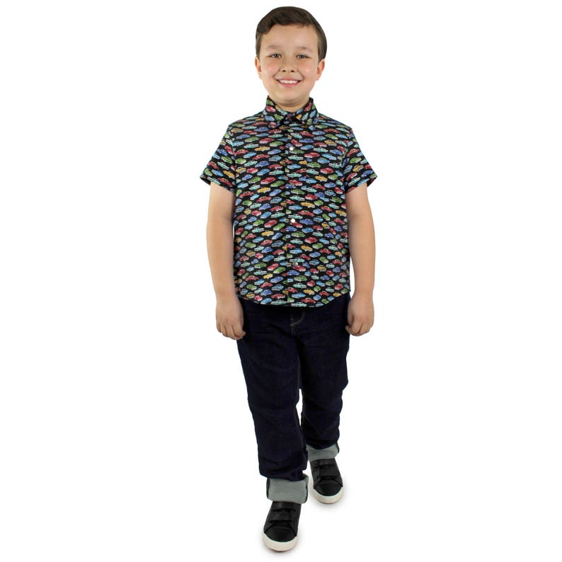 Kids 1950s Clothing & Costumes: Girls, Boys, Toddlers Boys Vintage Chevy Top $25.95 AT vintagedancer.com