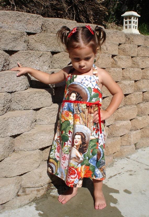 0ae3b742c93 Girls Rockabilly Senorita Dress 2T4T6T 8   Little girls