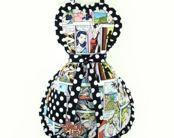 Pinup Comic Strip Apron