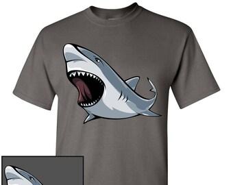 Shark Custom T-Shirt - Men Women Youth Long Sleeve Personalized Tee, Great White Shark
