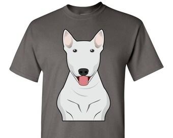 7d3ee8b4 Bull Terrier Cartoon T-Shirt - Men, Women Ladies, Short, Long Sleeve, Youth  Kids Tee dog