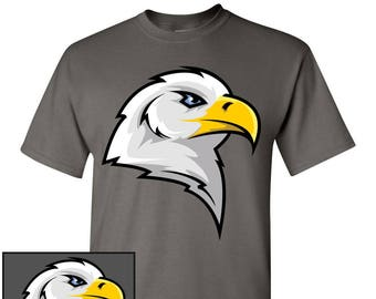 f53535cf Eagle Head Custom T-Shirt - Men Women Youth Long Sleeve Personalized Tee,  American Bald Eagle Patriotic