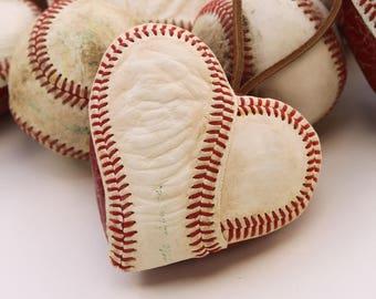 Baseball Christmas Ornament, Heart Baseball, Real Baseball, Sports, Christmas, Gift for Guy, Coaches Gift, MLB, Valentines Day, Red.