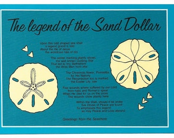 image relating to Legend of the Sand Dollar Poem Printable called Sand greenback legend Etsy