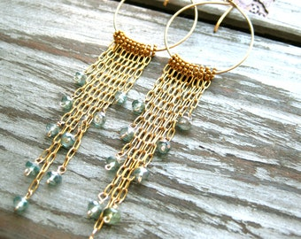 Undiscovered First 14kt Gold Filled Long Tassel Earrings