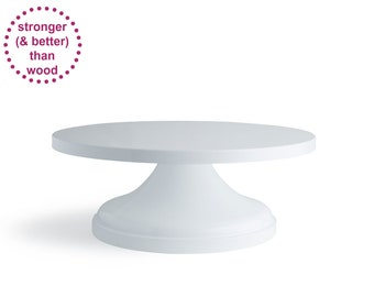 White Wedding Cake Stand | 12 inch 14 inch | Free Shipping | Cake Plate | Great for multi-tiered cakes - As seen in Martha Brides & The Knot