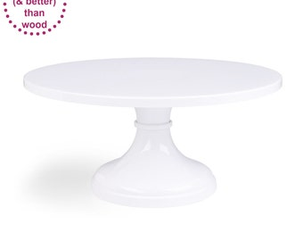 Cake Stand | White | 14inch 16inch 18inch | Free Shipping | Round Cake Plate | White Wedding Decor - Seen in Martha, Brides, HGTV & The Knot