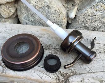 Mason Jar Soap Pump Kit Bronze Old Fashioned Well Pump