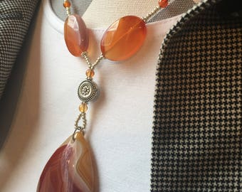 Princess Red Agate Gemstone Necklace