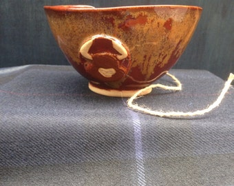 Stoneware Yarn Bowl knitting fibre yarn craft MADE TO ORDER
