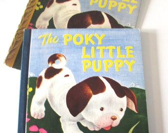 Vintage Poky Little Puppy, Little Golden book, 1946, RARE-includes a dust jacket, 13th printing, Lowrey, Tenggren, charming gift