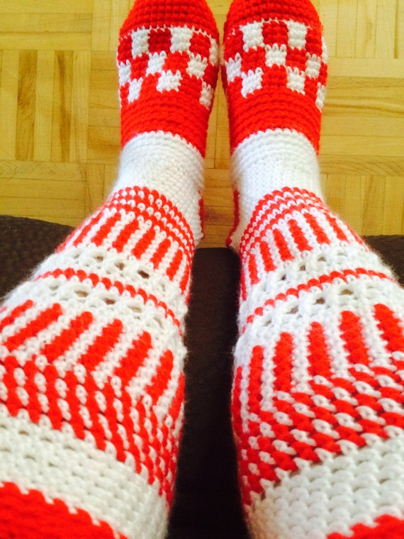 Knee High Socks Pattern Pdf Crochet Slipper Socks Canada Etsy