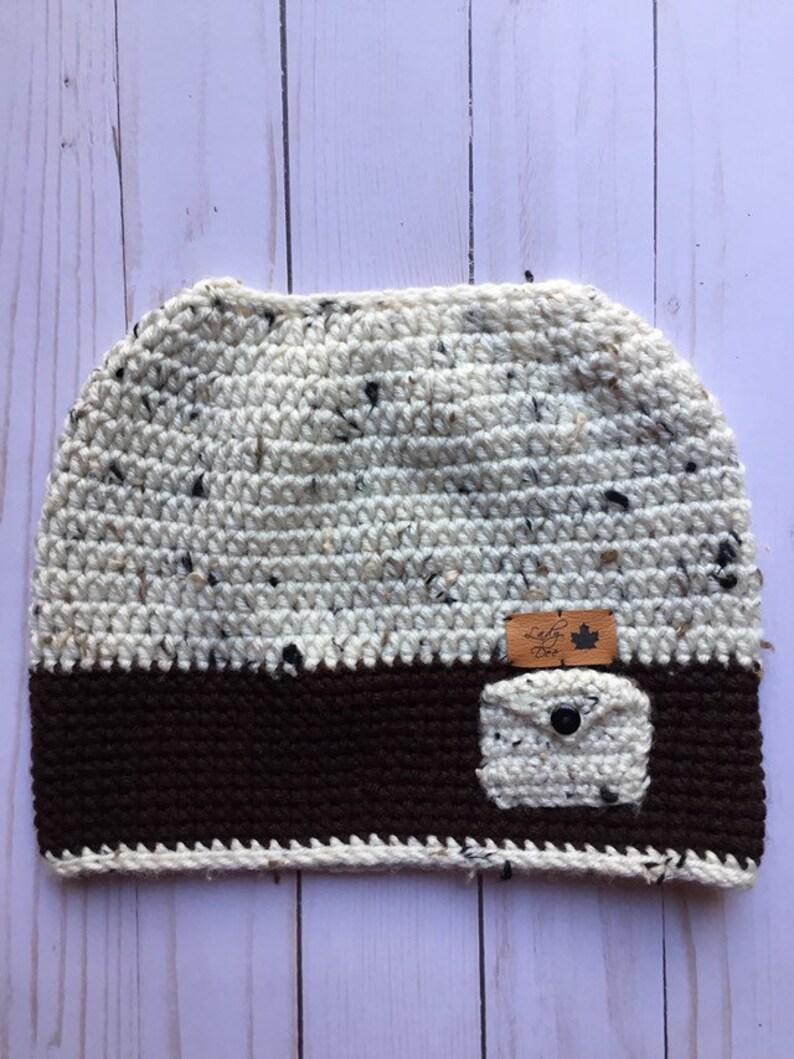 445f7636 Messy bun crochet hat ponytail crochet hat crochet hat | Etsy
