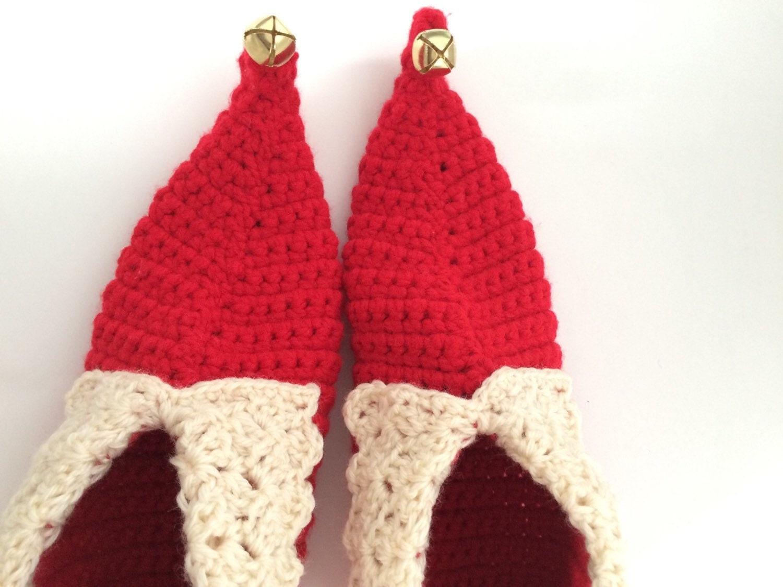 crochet elf slippers tutorial