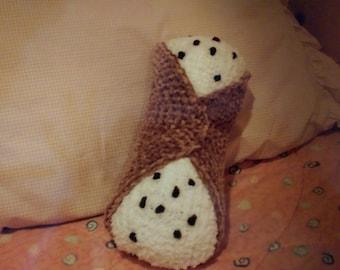 Cannoli Pillow - Pastry Food Pillow - Dessert Pillow - Neck Roll