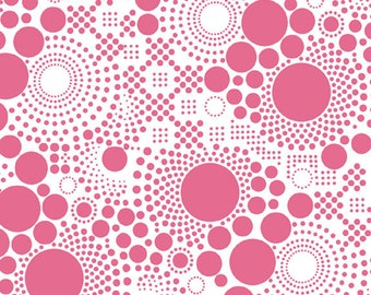 """Hipsters Pop ~ HOT PINK ~ 100% Cotton Fabric ~ 1/2 yard ~ 18"""" x 44"""" ~ from Riley Blake C521-07"""