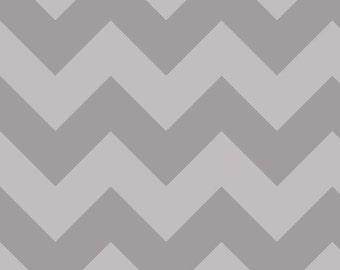 "Large CHEVRON  ~  GRAY Tone- on-Tone ~ 100% Cotton Fabric ~ 1/2 Yard Cut ~ 18"" x 44"" Riley Blake Designs  ~ C390-41"