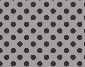 "BLACK Medium Dots ~ 3/4"" Diameter Dots ~ Tone-on-Tone ~ 100% Cotton Fabric ~ 1/2 yard ~ 18"" x 44"" ~ from Riley Blake C430-110"