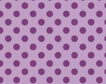 "LAVENDAR Medium Dots ~ 3/4"" Diameter Dots ~ Tone-on-Tone ~ 100% Cotton Fabric ~ 1/2 yard ~ 18"" x 44"" ~ from Riley Blake C430-120"