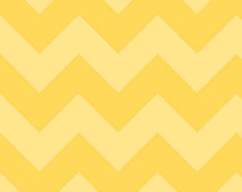 "Large CHEVRON  ~  YELLOW Tone - on-Tone ~ 1/2 Yard Cut ~ 100% Cotton Fabric ~ 18"" x 43"" Riley Blake Designs  ~ C390-51"