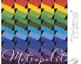 PRISME Quilt Pattern ~ Pieced Quilt Pattern from Metropolitan Quilt