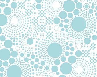 "Hipsters ~ Pop AQUA ~ 100% Cotton Fabric ~ 1/2 yard ~ 18"" x 44"" ~ from Riley Blake C521-05"