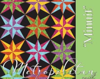 MINUIT Quilt Pattern ~ Pieced Quilt Pattern from Metropolitan Quilt