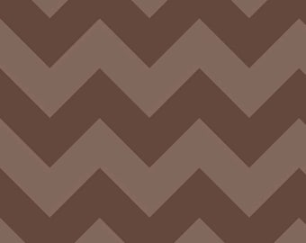 "Large CHEVRON  ~  BROWN Tone- on-Tone ~ 100% Cotton Fabric ~ 1/2 Yard Cut ~ 18"" x 44"" Riley Blake Designs  ~ C390-91"