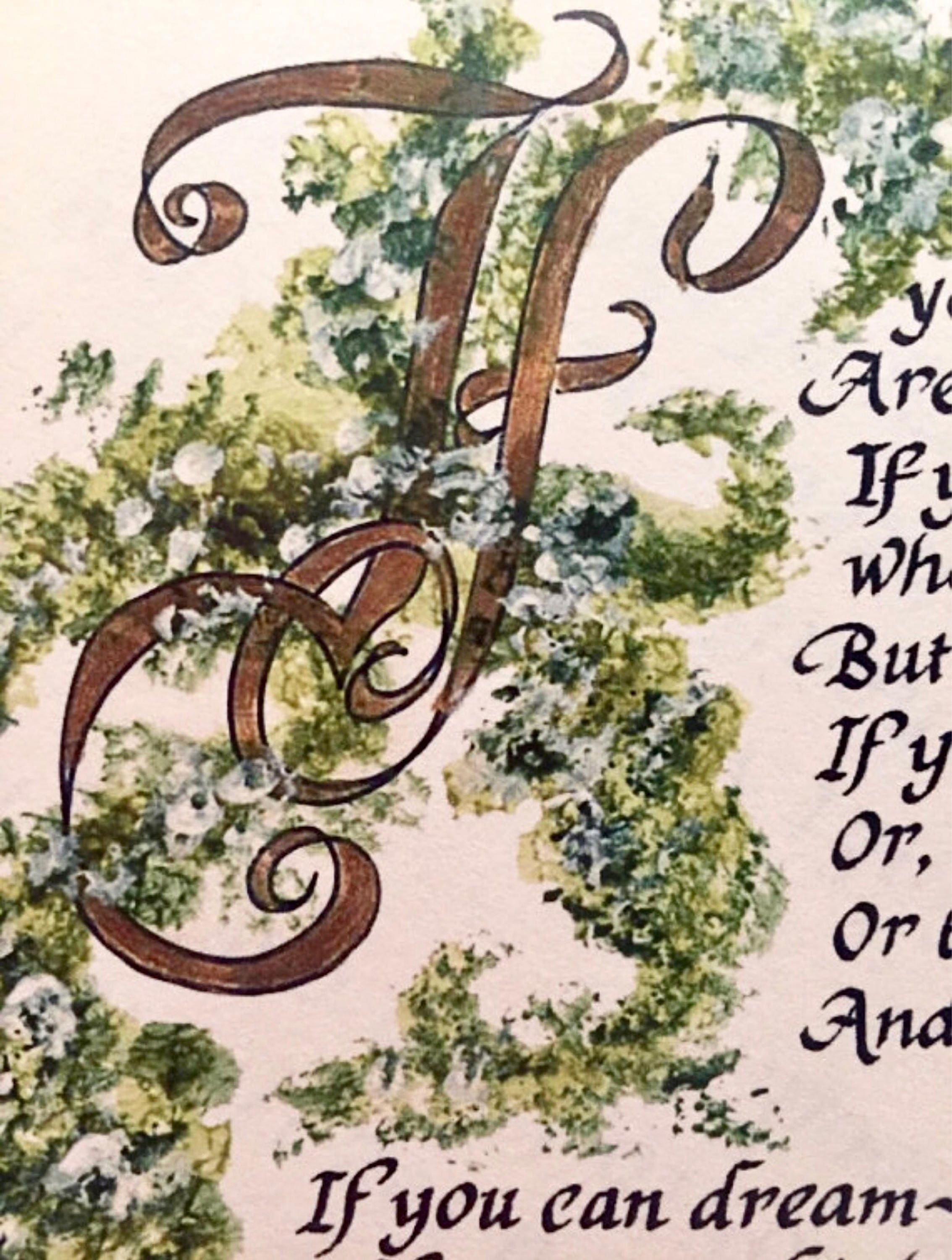 If by Rudyard Kipling/Calligraphy/For Him/Fathers day/on 8 ...