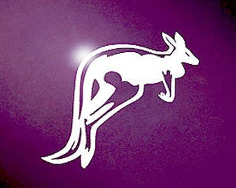 "Kangaroo Decal / Kangaroo Laptop Sticker /Kangaroo Car Sticker / Kangaroo iPad Decal / Kangaroo Laptop Decal / 3.50""h x 5""w / #566"