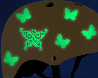 Tribal Butterfly Reflective Decal Set, Butterfly Helmet Stickers, Butterfly Motorcycle Transfers, Butterfly Reflective Vinyl Decals / #914R