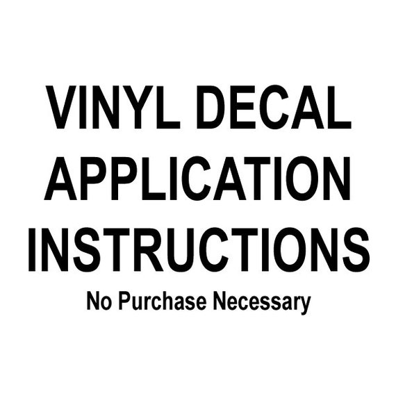 photo about Decal Application Instructions Printable referred to as Vinyl decal software directions
