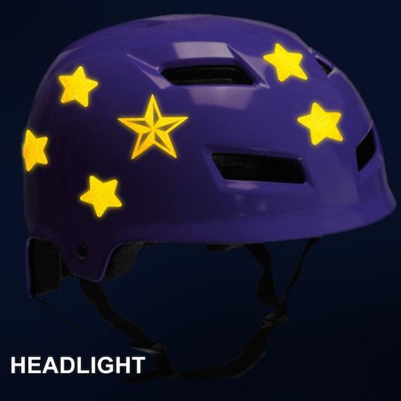 Set Weiß 8 Stern Streifen Aufkleber Helm Aufkleber Abziehbild Motorroller Helmet