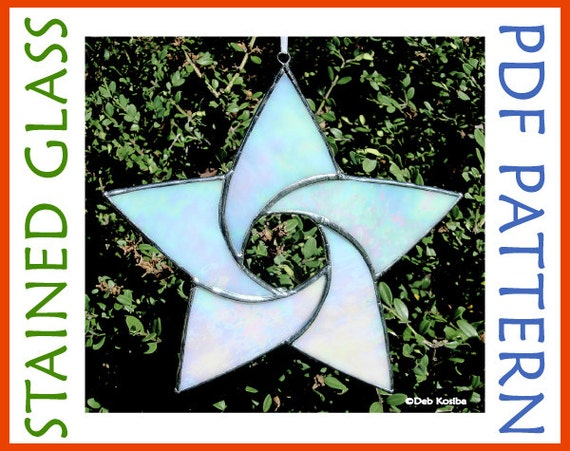 3 STAR-WHITE-2 Free Shipping Stained Glass Supplies